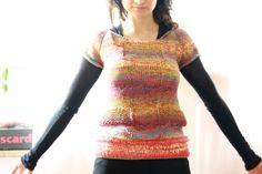 Pullover & Pullunder - rainbow multicolor pullover retro boho vintage - ein Designerstück von solvida bei DaWanda