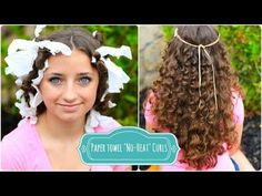 How To Curl Your Hair the Easy Way With Paper Towels - DIY & Crafts