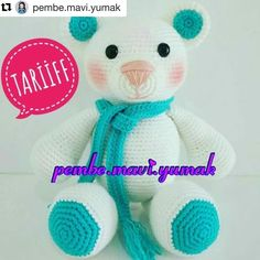 Hello friends, today I think you will love to play with many of your playmates. Bear Teddy will share the story of the production. Cat Amigurumi, Jouer, Free Knitting, Free Pattern, Diy And Crafts, Teddy Bear, Pokemon, Toys, Handmade