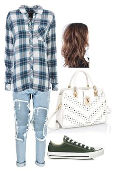 Untitled #125 by h-akther on Polyvore featuring Rails, Boohoo and Converse