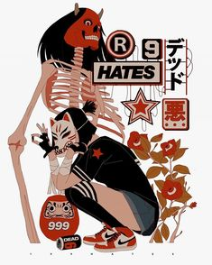 Streetwear Illustrations Dive Into A Dystopian World Of Demon Hunters
