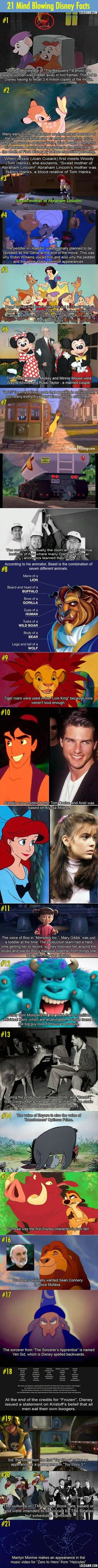 Another 21 Disney movies facts that will blow your mind. I had no clue about the majority of these.