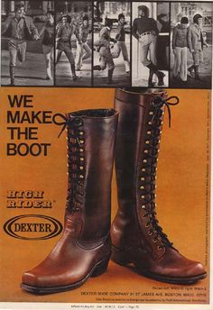 men's knee high boots 1960s-70s