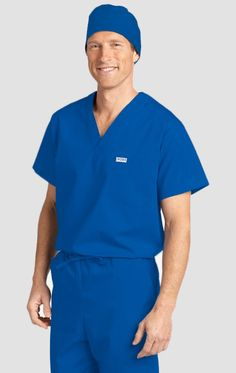 Basic Unisex scrub top with one chest pocket and one shoulder pocket. Scrub Tops, Scrubs, Perfect Fit, Long Sleeve Tees, Polo Ralph Lauren, One Shoulder, Mobb, School Programs, V Neck