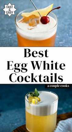 Here are the best classic egg white cocktails to try! The trick to that perfect frothy egg white foam is easier than you think. Cocktail Recipes Egg White, Egg White Recipes, Cranberry Cocktail, Sour Cocktail, Cocktail Drinks, Beste Cocktails, Cocktails To Try, Winter Cocktails, Christmas Cocktails