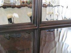 Detail of blackened steel window frame
