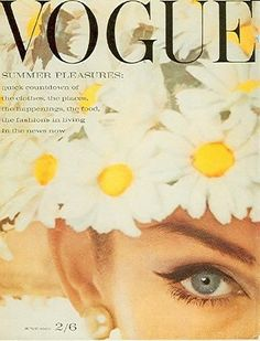Jean Shrimpton on the cover of the June 1962 issue of Vogue.