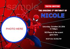 Spiderman invitation template free download everything for a party spiderman invitation spiderman birthday invitation spider man birthday spider man invitation digital stopboris