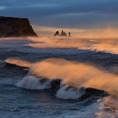 Stormy sunrise in Iceland