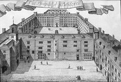 Bridewell Palace, London, in Built as a residence for Henry VIII, it later became an orphanage and then a prison before being demolished in London History, Tudor History, British History, Dinastia Tudor, Tudor House, Tudor Style, London Free, Old London, Bethlem Royal Hospital