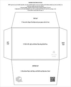 Scope Of Work Template Party Ideas Pinterest X Envelopes - 5x7 envelope template word