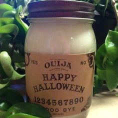 Ouija Board, candle in our Fairy Magic scent- Halloween candle, fall candle, fairy, soy candle by willowmooncandle on Etsy