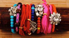 Faux Show (African & Vintage Rhinestone Bhati Beads)