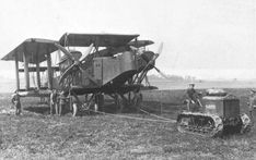 Handley Page O/400 of No.207 Squadron at Ligescourt on 29 August, 1918.