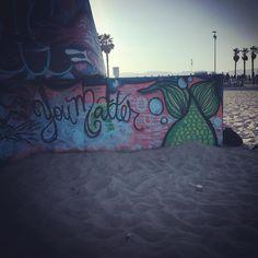 You Matter. #artoftheday #graffiti #graffitiart #urbanart #streetart #art #as2in #viewsfrom3105 #art #youmatter #venicebeach #venice #motivation #uplifting by aspire2nspire