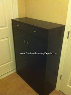 Five Shelf Shoe Cabinet With Two Upper Storage Bins Embled In Washington Dc By Furniture Embly Experts Llc