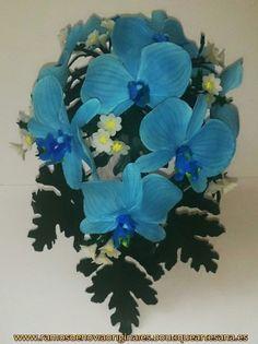 Ramo Gota orquídeas porcelana.