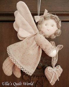 Quilted angel, pattern and tutorial