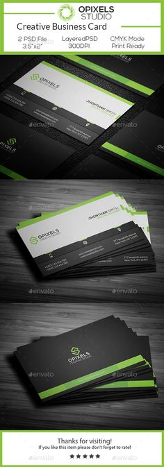 Buy Corporate Business Card by opixels_studio on GraphicRiver. Features: Easy Customizable and Editable Business Card Design in with Bleed Setting inch) CMYK Colo. Business Card Psd, Corporate Business, Business Card Design, Coperate Design, Grafik Design, Card Templates, Brand Identity, Communication, Inspiration