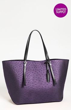 Michael Kors 'Gia' Ostrich Embossed Leather Tote