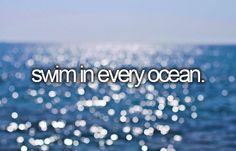 Bucket list: swim in every ocean