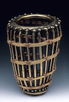 "Suzye Ogawa | ""Bamboo Swirl"".   Contemporary Metal and Bamboo basketry"
