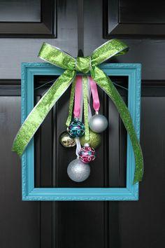 Christmas door decor tutorial