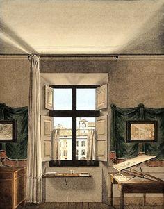 Giovanni Battista de Gubernatis (Italian, 1774–1837) The Artist's Studio in Parma, 1812 Watercolor on cardboard; 8 7/8 x 7 1/4 in. (22.5 x 18.5 cm) GAM-Galleria Civica d'Arte Moderne e Contemporanea, Turin