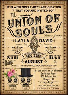 Luella   Printable DIY Victorian Steampunk Wedding Invitation Suite   Day  Of The Dead Skulls   Customized Wedding Invitation