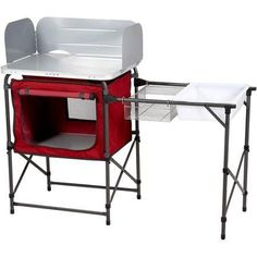 camping kitchen with sink - Ozark Trail Durable Steel Frame with Easy-to-clean Tabletop, Deluxe Outdoor Camp Kitchen and Sink Table * You can find more details by visiting the image link. (This is an affiliate link) #rusted