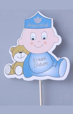 Bebek Erkek Oldum Sünnet Şekeri http://sunnetcarsisi.com/biblolu-sunnet-sekerleri