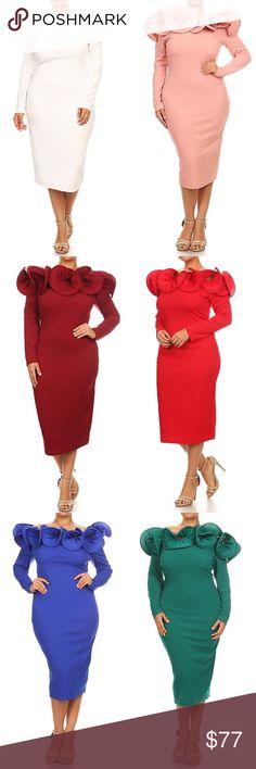 Plus Size Sheath Dress Solid knit sheath dress  102802Material Information unavailable. Origin United States Description Solid knit sheath dress ColorWhite,Blue,Red,Black,Green,BLUSH,Burgundy,Royal BlueSizeL-1X-2X-3X Dresses Midi