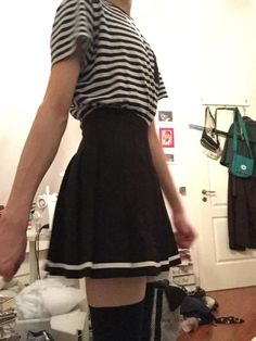 I finally bought a skirt! Boys Dress Outfits, Teen Fashion Outfits, Cute Fashion, Skirt Fashion, Cute Outfits, Androgynous People, Androgynous Fashion, Daddy Aesthetic, Aesthetic Clothes