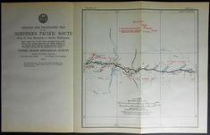 1915 Railroad Map: Sentinel Butte, Medora, Scoria, Fryburg, Zenith, Eland, North Dakota ND. Northern Pacific Rail Antique. Map Vintage