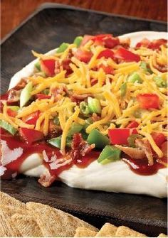 Barbecue-Bacon Party Spread – If it's possible for one amazing appetizer to get a party going, Barbecue-Bacon Party Spread is it. We're talkin' cream cheese, BBQ sauce and bacon. Yum.