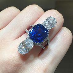 #christiesjewels #ceylonsapphire #rings #sabbadini #sapphire