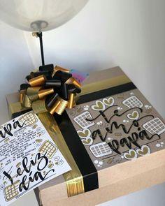 Cajas decoradas Best Friend Gifts, Gifts For Friends, Ideas Para, Ideas Desayunos, Dad Birthday, Sweet Memories, Projects For Kids, Boyfriend Gifts, Crates