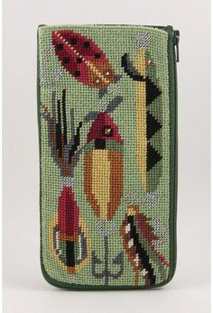 Eyeglass Case - Fishing Lures - Needlepoint Kit