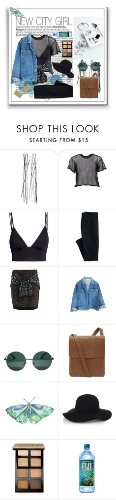 """""""New city girl"""" by emelievv ❤ liked on Polyvore featuring MM6 Maison Margiela, H&M, Canvas by Lands' End, 3.1 Phillip Lim, YHF, Mulberry, Warehouse and Bobbi Brown Cosmetics"""