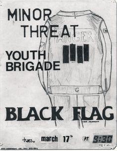 Minor Threat, Youth Brigade & Black Flag @ 9:30 Club. 1981