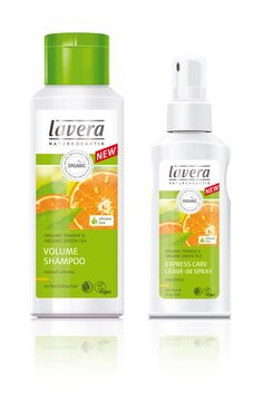 NEW Lavera Orange Hair Care Range - leave in Conditioning Spray and Orange Shampoo. Contains organic and natural ingrdients to create shiny, glossy health hair from the first time you wsh. Buy now online and get FREE delivery www.lavera.co.uk