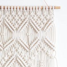 Macrame Wall Hanging  ROCOCO  100% Cotton Cord in by JoJansenCo
