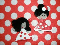 Broches flamenca en acetato. Brochessantander.blogspot.com