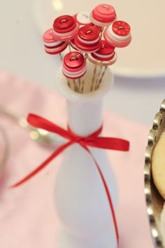 Valentine Button Bouquet by One Charming Party.