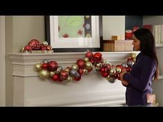 Cómo hacer una guirnalda decorativa - YouTube Ornament Wreath, Ornaments, And July, Making Memories, Crafty Projects, Christmas Decorations, Christmas Ideas, Garland, Wreaths