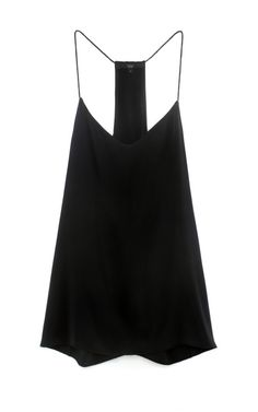 Love this simple black silk cami!