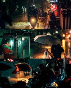 Rain is liquid water in the form of droplets that have condensed from atmospheric water vapor and then become heavy enough to fall under gravity Jakarta, Rain, Darth Vader, Night, Water, Rain Fall, Gripe Water, Aqua