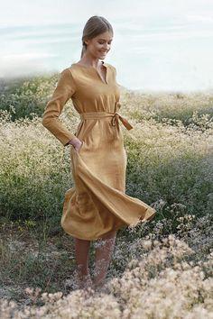 Linen A Line Dress