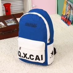 Fashion women's handbag 2013 canvas backpack middle school students school bag backpack travel bag