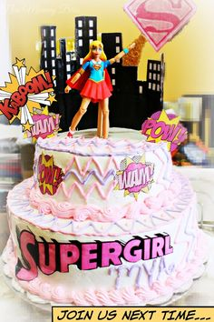 New Mommy Bliss: Tutorial: How to Decorate a Super Hero Birthday Cake using DC SuperHero Girls!  Can Be changed up to make Boy Versions and Any other super hero.